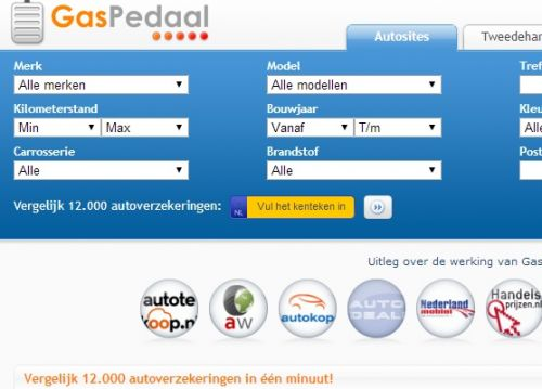 Gaspedaal ontkoppelt Autotrack, Autotrader en Autoscout ...